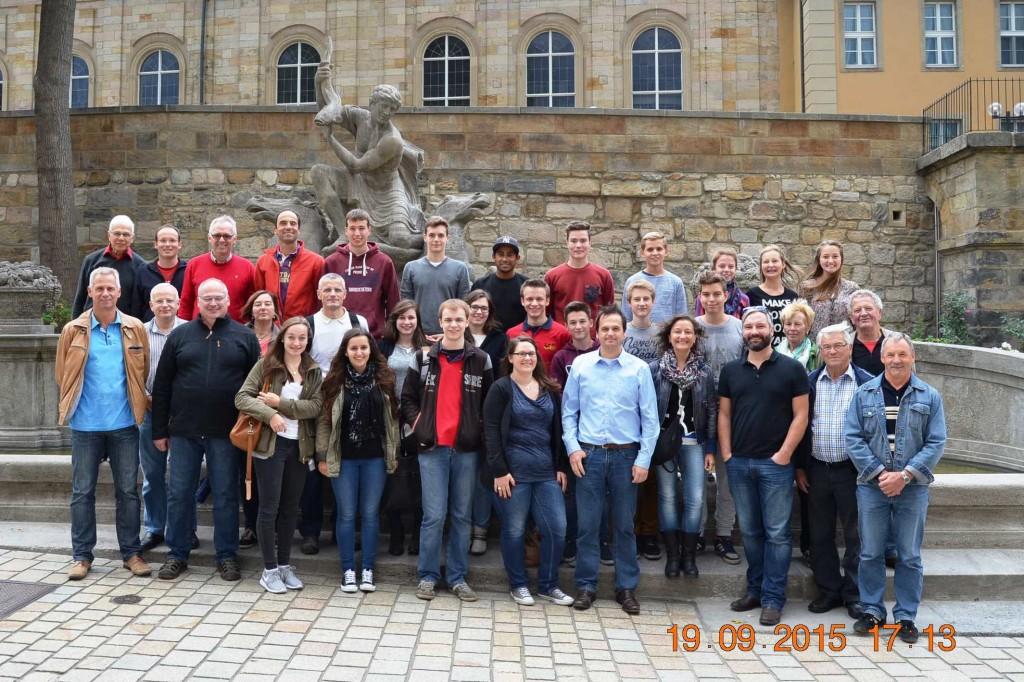 Der Musikverein bei der Stadtbesichtigung Bayreuths